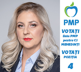 VOTAȚI lista PMP pentru CJ MEHEDINȚI. VOTAȚI poziția 4