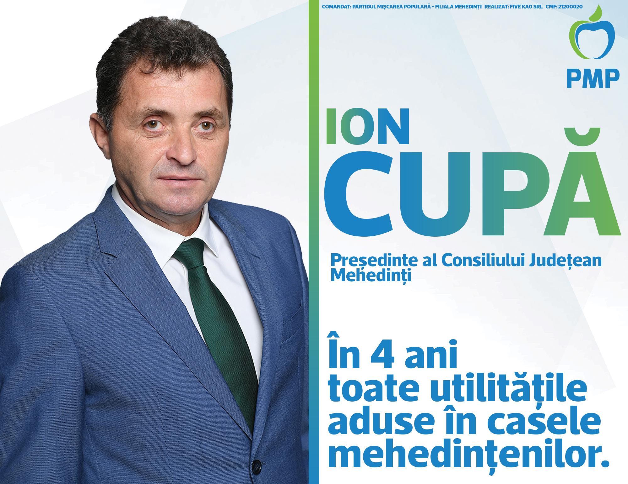 PMP. VOTAȚI POZIȚIA 3. ION CUPĂ
